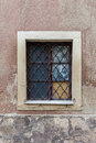 Old windows in the tenement house Royalty Free Stock Photo