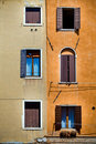 Old windows of Venice, Italy Stock Images