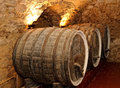 Old wine barrels cellar Royalty Free Stock Image