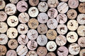 Old wine corks Stock Images