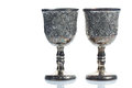Old wine goblets on white background Royalty Free Stock Photo