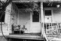Old Wisconsin Dairy Farm Farmhouse Porch Royalty Free Stock Photo