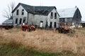 Old Wisconsin Dairy Farm Farmhouse Royalty Free Stock Photo