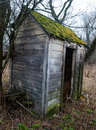 Old Wisconsin Dairy Farm Outhouse Royalty Free Stock Photo