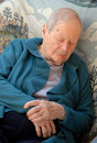 Old woman has a catnap Royalty Free Stock Photos
