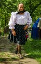 Old woman from maramures romania june in national port Stock Images