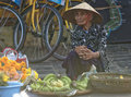 Woman selling bananas, Hoi An, Vietnam Royalty Free Stock Photo