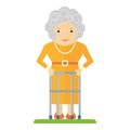 Old woman with walker Royalty Free Stock Photo