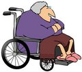 Old Woman In A Wheelchair Royalty Free Stock Photography