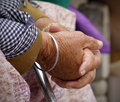 Old women hands Royalty Free Stock Image