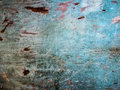 Old wood with blue paint pattern texture Royalty Free Stock Photo