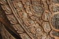 Old wood carve thai pattern Royalty Free Stock Images