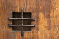 Old wood door detail Royalty Free Stock Photography