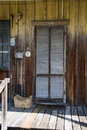 Old wood door entrance to an house in key west florida Royalty Free Stock Image