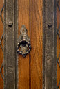 An old wood door handle knocker for print