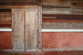 Old wood door and plank wall background Royalty Free Stock Images