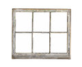 Old wood frame window isolated. Royalty Free Stock Photo