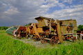 Old wood harvester Royalty Free Stock Photo