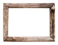 Old wood picture frame Royalty Free Stock Photo