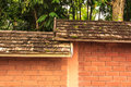 The old wood of roof Royalty Free Stock Photos