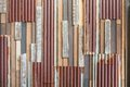 Old wood and rusty roofing sheet wall Royalty Free Stock Photo