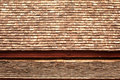 Old wood texture on roof . Royalty Free Stock Photo