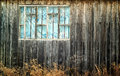 Old wood wall and external window Royalty Free Stock Photo