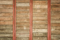 Old wood wall for text and background study Stock Image