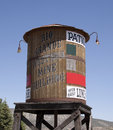 Old wood water tower Royalty Free Stock Image