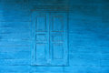 Old wood windows texture and blue background Royalty Free Stock Photography