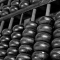 Old wooden abacus background Stock Photography