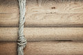 Old wooden background with ship rope texture Stock Photos