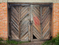 Old wooden barn door. Royalty Free Stock Photo