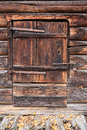 Old wooden barn door Royalty Free Stock Photo