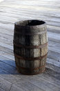 Old wooden barrel cask Royalty Free Stock Images