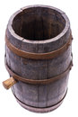 Old wooden barrel with cork Royalty Free Stock Photo