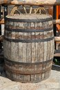 Old wooden barrel vine beer Royalty Free Stock Image