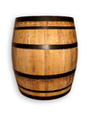 Old wooden barrel on wine Stock Photography