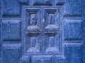 Old Wooden Blue Door Detail Stock Photos