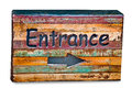 The Old wooden box of entrance way Stock Images