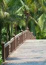 Old, wooden bridge Royalty Free Stock Images