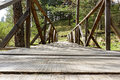 Old wooden bridge in nature