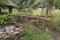 Old Wooden Bridge In Nature