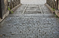 An old wooden bridge over the moat Royalty Free Stock Photo