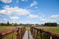 Old wooden brige Royalty Free Stock Photo