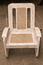 Old wooden caned chair restored repainted Stock Images