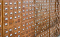 Old wooden card catalogue Royalty Free Stock Photo