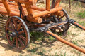 Old wooden cart american antique Stock Photo