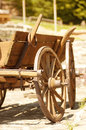Old wooden cart photo for a design Stock Images