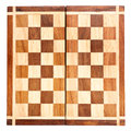 Old wooden chess board Stock Photos